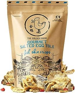 (Pack of 3) THE GOLDEN DUCK GOURMET SALTED EGG YOLK FISH SKIN CHIPS 125g