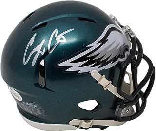 Corey Clement Philadelphia Eagles Signed Autograph Mini Helmet Helmet JSA Witnessed Certified