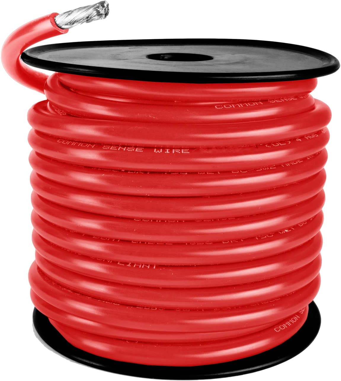 Red Available in Black and Yellow 4 AWG Marine Wire Tinned Copper Boat Battery Cable Made in The USA