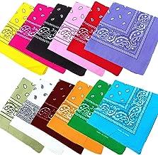 JT-Amigo 12pcs Pañuelos Bandanas de Modelo de Paisley para Cuello/Cabeza