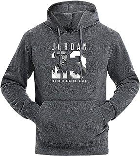 911f438609583a Mancave Men Kangaroo Pocket Slim Jordan 23 Printed Full Sleeve Sporty Hoodie
