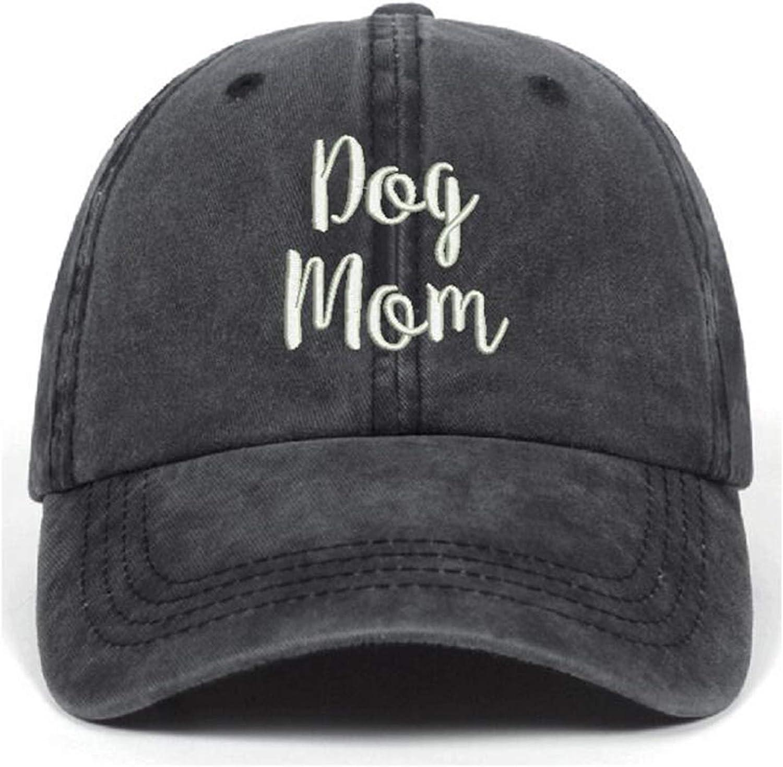 Jumsky Dog Mom Baseball Caps Washed Cotton Plain Snapback Dad Hat