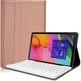 KILISON Samsung Galaxy Tab A 2019 T510/T515 Teclado Estuche Funda [QWERTY Formato], Slim PU Cuero Wireless Bluetooth Teclado Case Cover para Samsung Galaxy Tab A 10.1 2019 SM-T510 / T515, Oro Rosa