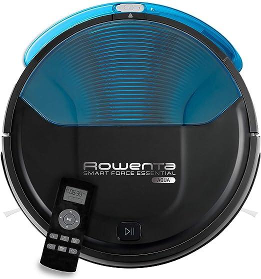 Rowenta Smart Force Essential Aqua RR6971WH - Robot aspirador 2 en 1, aspira y friega, con sensores anticaída + ZR6902ES 2 mopas de Recambio para los Robots de la Gama Smart Force