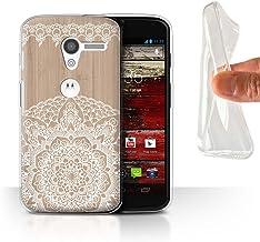 Stuff4 Carcasa/Funda TPU/Gel para el Motorola Moto X/Serie: Fina Madera de Encaje - Mandala de Bambú