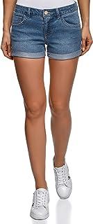 oodji Ultra Mujer Pantalones Cortos Vaqueros Básicos