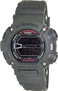 Men's G9000-3V G-Shock Green Mudman Digital Sports Watch, Black