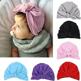 Fdit 6 Colores Sombrero de Bebé Turbante Sombrero Súper