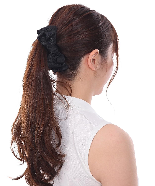 ボナバンチュール(Bonaventure) グログラン ふんわり リボン バナナクリップ レディース ヘアアクセサリー ヘアクリップ 人気 ブランド 髪留め