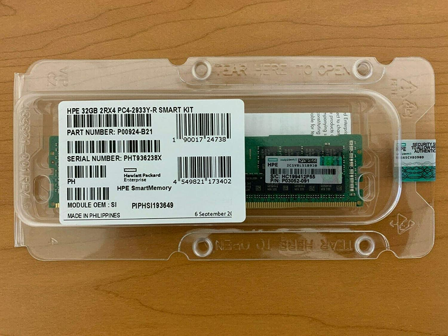 New HPE P00924-B21 P03052-091 32GB PC4-2933Y-R Memory Sales of SALE items Max 56% OFF from new works Facto 2RX4
