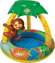 Poolmaster 81610 Learn-to-Swim Go Bananas Monkey Swimming Pool with Sun Protection, Monkey