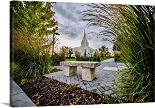 Gallery-Wrapped Canvas Entitled Idaho Falls Idaho Temple, a Place to Rest, Idaho Falls, Idaho by Scott Jarvie 36