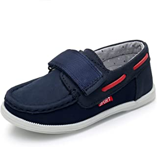 66df336f258 Ahannie Toddler Casual Loafers Shoes Boys Moccasin Slip on Boat Shoes Flats