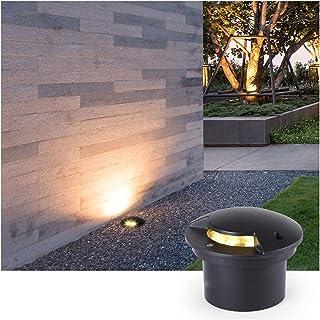 CHHD Garden Underground Light 3W Embedded Led Lawn Light IP65 Waterproof Step Lights for Outdoor Terrace Driveway Deck Lig...