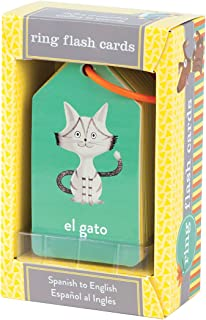 Mudpuppy Spanish to English Flash Cards, for Ages 1+, 26 Two-Sided