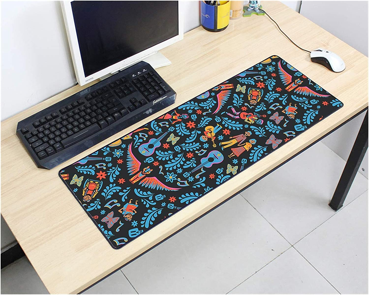 YZGLA Desk Mat Mouse pad Rubber Keyboards 800x300mm Speed Special price for a limited time Ga safety