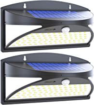 100 LED Solar Lights Outdoor, Waterproof Motion Sensor Solar Wall Lights, Super Bright WirelessSolar Powered Security Light with Wide Angle Illumination for Wall, Driveway, Patio, Garden, 2Pack