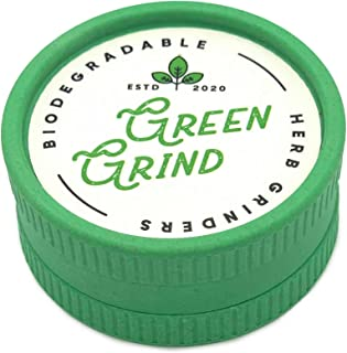 Biodegradable 2 Piece 2.2 inch (53cm) Herb and Spice Grinder Shredder Plant Composition Light Weight Travel Friendly and E...