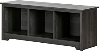 South Shore  Vito Storage Bench Gray Oak