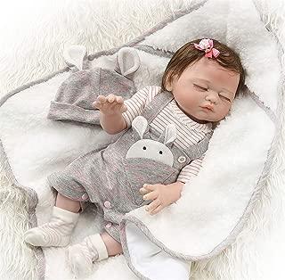 Zero Pam Reborn Baby Dolls Bath 20 inch Realistic Reborn Newborn Baby Sleeping Girl Dolls Full Body Silicone Vinyl Toys with Pacifier