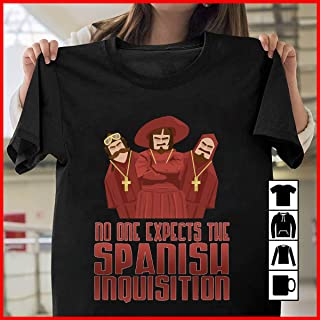 Monty Python No One Expects The Spanish Inquisition T Shirt Long Sleeve Sweatshirt Hoodie for Men and Women