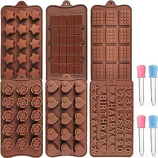 6PCS Moules en silicone pour Chocolats Moule à Chocolat de Noël Pour pour la cuisine et la pâtisserie