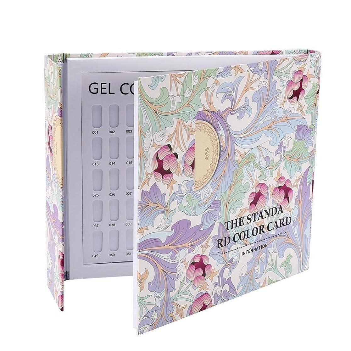 シエスタファン無実カラーチャート ブック - Delaman ネイル 色見本、ブック型 、ジェルネイル、カラーガイド、サンプル帳、120色 (パターンカバー)