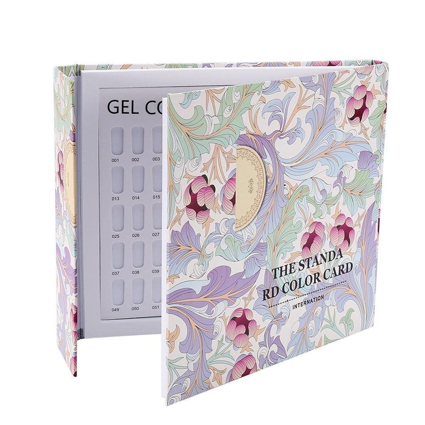 サーマル面積活力カラーチャート ブック - Delaman ネイル 色見本、ブック型 、ジェルネイル、カラーガイド、サンプル帳、120色 (パターンカバー)
