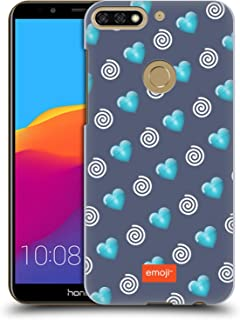 Official Emoji Hearts and Swirls Winter Patterns Hard Back Case Compatible for Huawei Honor 7C / Enjoy 8