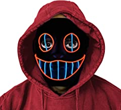 LED Mask - Halloween Purge Masks Safe EL Wire/3 Modes - Glowing Creepy Mask