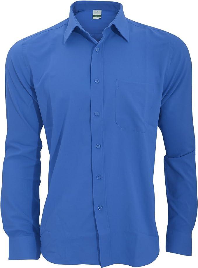 Henbury - Camisa Transpirable para Trabajar de Manga Larga accion Anti-Bacterial Hombre/Caballero - Trabajo/Fiesta/Verano