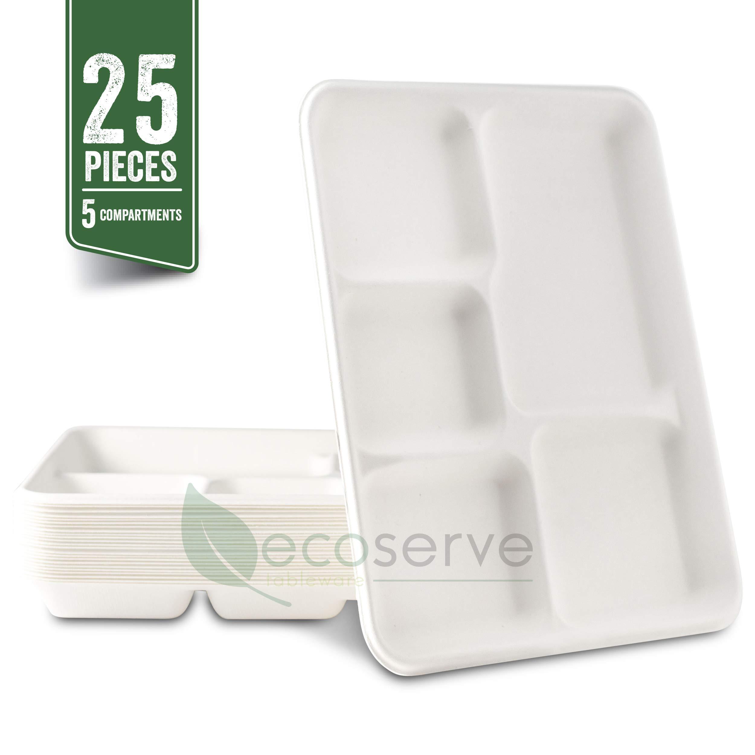 Platos de papel desechables de 5 compartimentos, bandejas ...