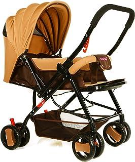 BABY PLUS BP7732 Baby Stroller with Canopy, Khaki - Pack of 1, BP7732-KHAKI