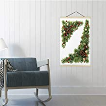 Hitecera Christmas Corners Set.Christmas,16/19/24 Frams Floral Garland 16/19/24 Poster Frames 24x35in(WxH)