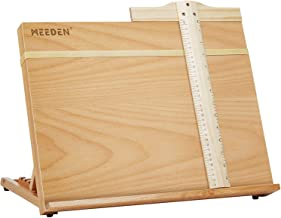 Art Drawing Board- Portable & Adjustable Beech Wood Sketching Board- ATWORTH Wood Desktop/Tabletop Easel for Drawing on Lo...