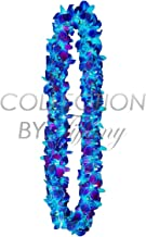 Fresh Graduation Orchid Leis - Double Strand Leis (Blue Tinted Sonnia)