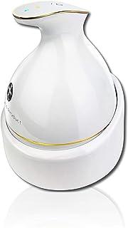 頭皮マッサージ ヘッドスパ 頭皮マッサージ器 頭皮マッサージャー [自宅スパ] ヘッドマッサージャー 防水 ブラシ 電動ブラシ 育毛 頭皮ケア 薄毛 スカルプ 電動 充電式 KAS-1 ホワイト WorldLI Home Product