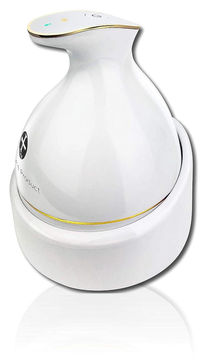 願う写真を撮る調子頭皮マッサージ 頭皮マッサージ器 KAS-1 ヘッドスパ ヘッドマッサージ 頭皮マッサージャー ヘッドマッサージャー 防水 ブラシ 電動ブラシ 育毛 頭皮ケア 電動 ホワイト WorldLI Home Product