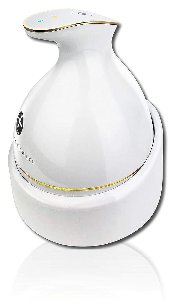 最適座標グリル頭皮マッサージ ヘッドスパ 頭皮マッサージ器 頭皮マッサージャー [自宅スパ] ヘッドマッサージャー 防水 ブラシ 電動ブラシ 育毛 頭皮ケア 薄毛 スカルプ 電動 充電式 KAS-1 ホワイト WorldLI Home Product