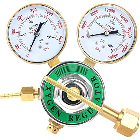Oxygen Regulator Welding Gas Gauges CGA-540 Rear Connector LDP Series SA