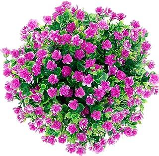 Artificial Flowers, Fake Flowers Artificial Greenery Plants Eucalyptus Outdoor Bridal Wedding Bouquet for Home Garden Part...