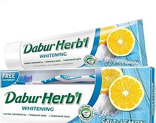معجون الاسنان العشبي المبيض من دابور، 150 غرام + فرشاة اسنان مجانية