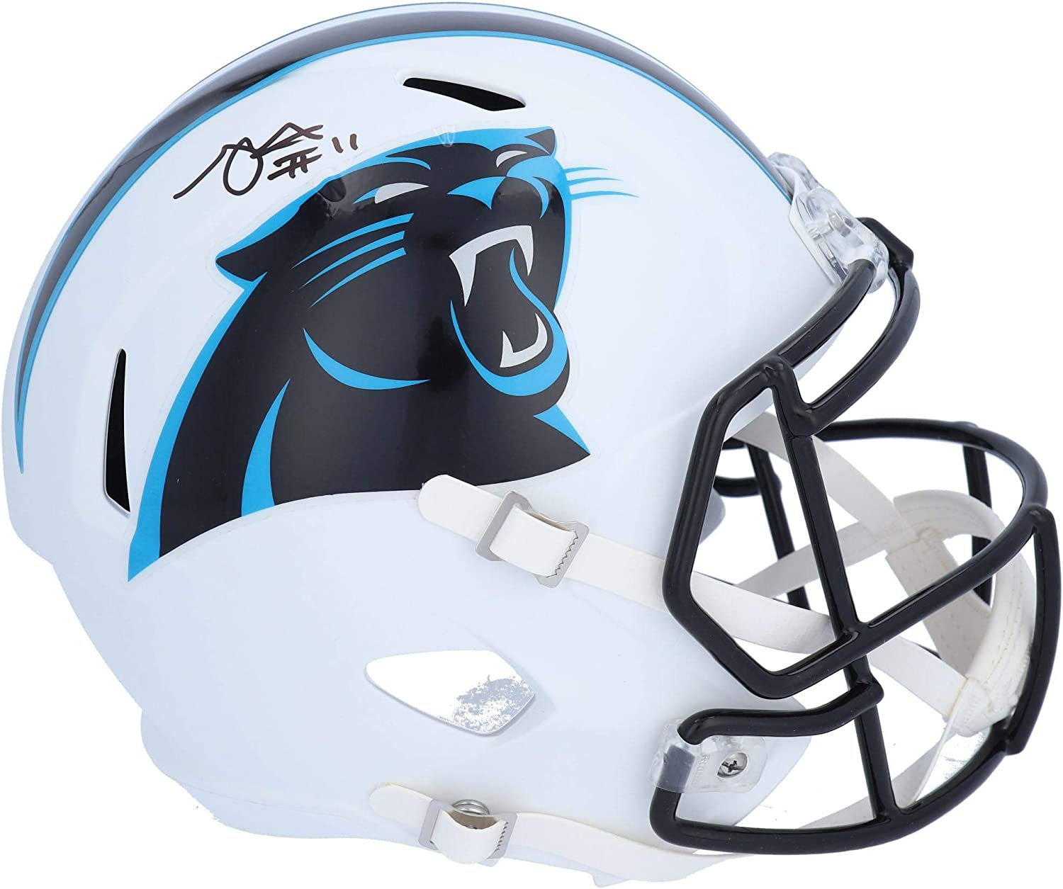 Robby Anderson Ranking TOP18 Carolina Popularity Panthers Autographed White Flat Riddell
