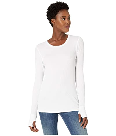 Mod-o-doc Thermal Long Sleeve Tee with Thumb-Holes (White) Women