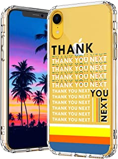MOSNOVO iPhone XR Case, Thank You Next Clear Design Printed Transparent Hard Back Case with TPU Bumper Protective Case Cover for iPhone XR
