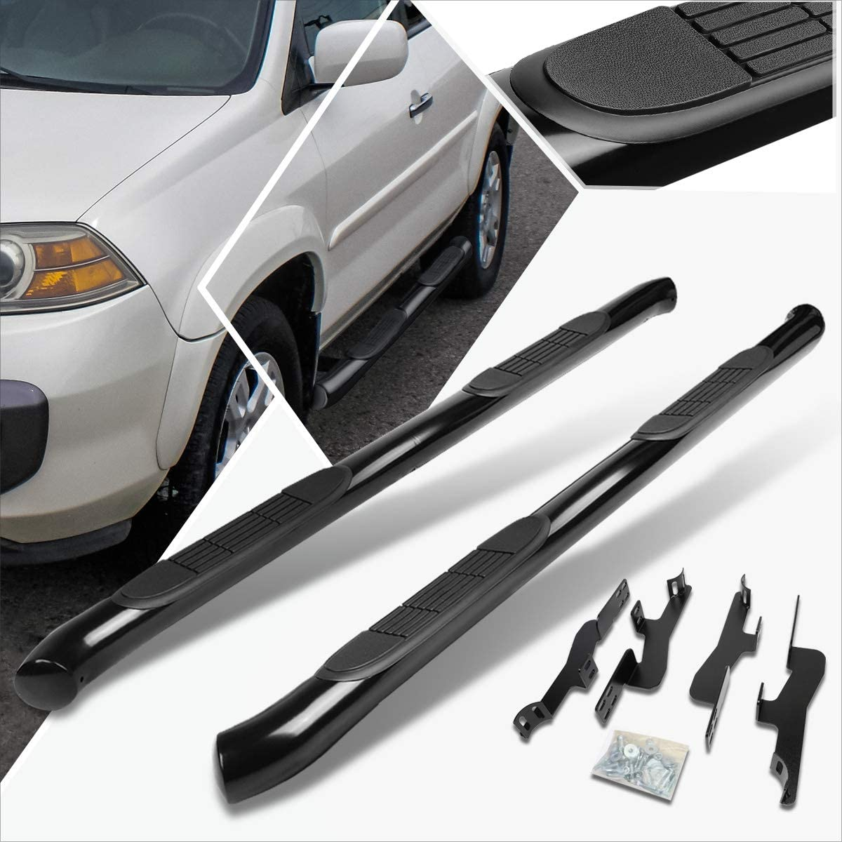 3 Inches Sale special price Black Running Board Side Bar Credence Compatible with Nerf Step