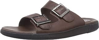 Clarks Men's Vine Cedar Brown Leather Sandals