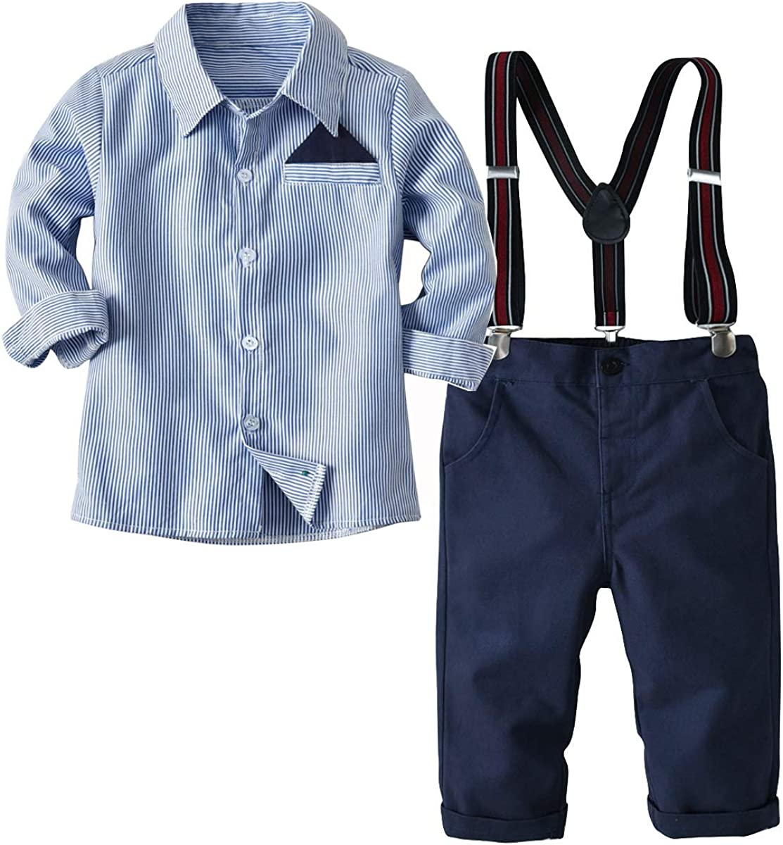 Boarnseorl Little Boys Long Sleeve Gentleman Outfit Suits Set