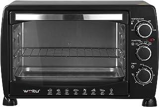 WOLTU BF09sz Mini Four à pizza Double porte en verre avec plaque de cuisson et rôtissoire avec minuterie 0-250 ° C 1400 W,...
