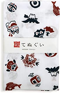 彩(irodori) 小紋手ぬぐい 縁起ちらし ほつれ防止加工なし 33×90cm